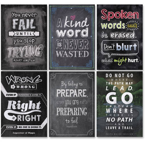 Creative Teaching Press InspireU Chalk It Up! Posters1, Pack of 6
