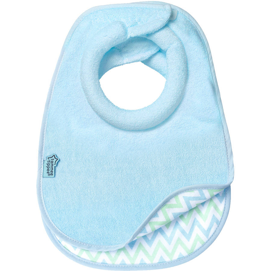 Tommee Tippee Closer to Nature Comfi-Neck Bib, 2pk, Boy