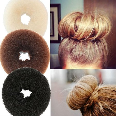 Bun Mesh Hair Shaper Styler Donut Former Ring Bun Maker Size and Colour Choice (Hair Donut)