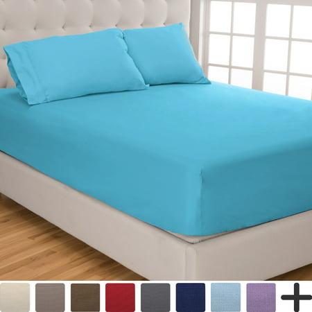 2 Fitted Sheets Pillowcase Set Split King Adjustable Bed Set