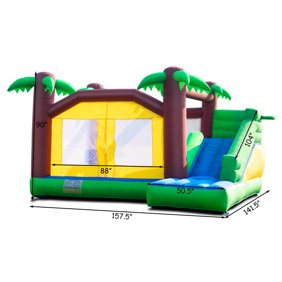 Sportspower My 1st Jump N Water Slide With Bounce House Walmart