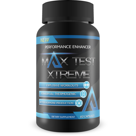 Max Test Xtreme - Performance Enhancer- Explosive Workouts - Powerful Thermogenic - Increase Natural Test Levels