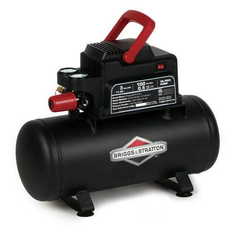 Briggs   Stratton Air Compressor 3 Gallon Hotdog Tank