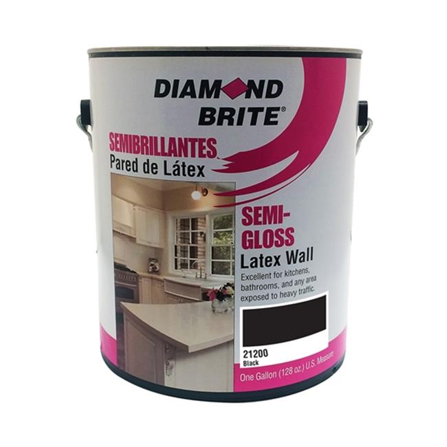 Diamond Brite 21200-1 1 gal Semi Gloss Latex Paint, Black