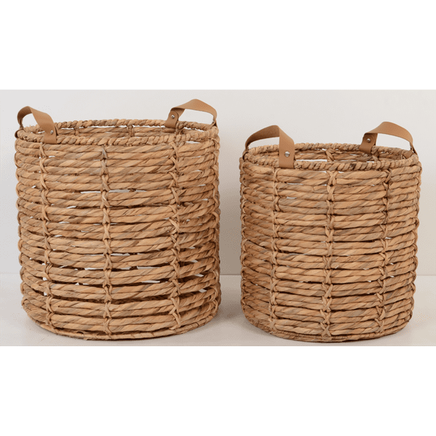 Better Homes & Gardens Round Water Hyacinth Basket Set of 2
