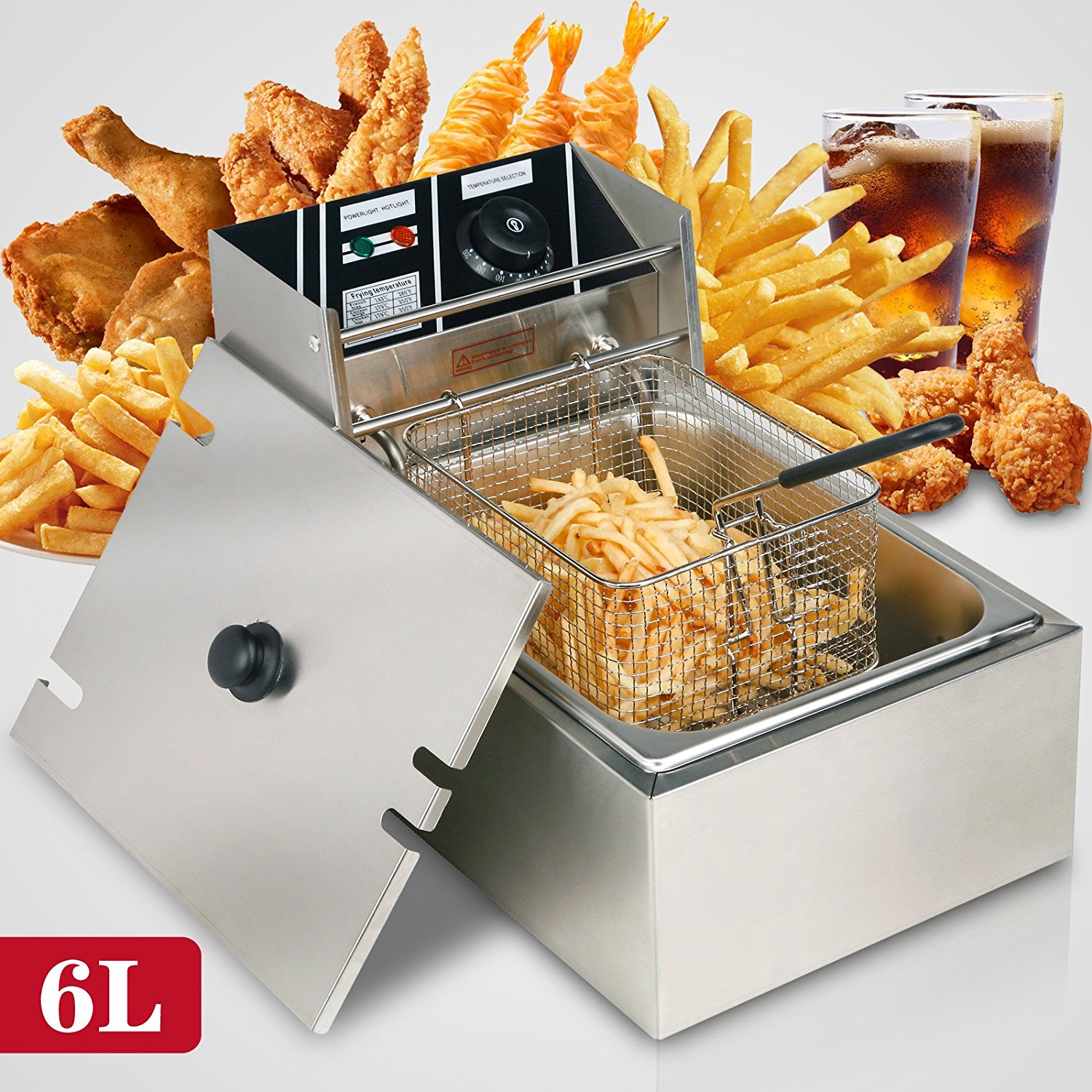 Bestcooker 6L Electric Deep Fryer Commercial Tabletop Res...