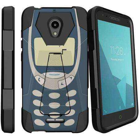 IdealXcite & Alcatel Raven LTE Retro Kickstand Case [Hybrid Design Case for Alcatel IdealXcite / Raven LTE ] Old School Cell Design Case for Alcatel IdealXcite / Raven LTE - (Bricks Protector Case)