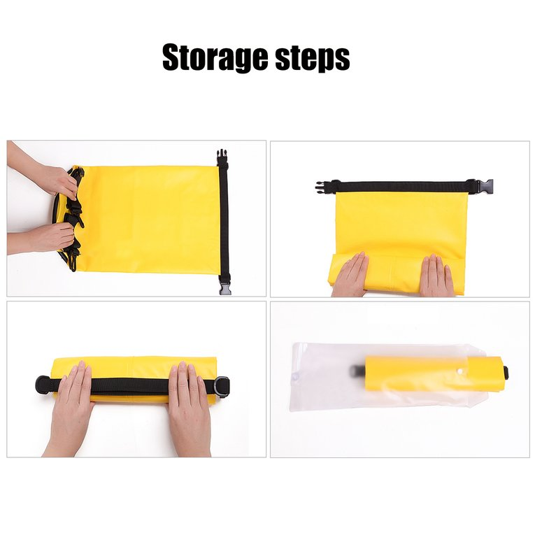 Yellow 20L Waterproof Dry Bag For Boating,Waterproof Dry Bag Roll Top Survival Sack Kit Dry Gear Bag Camping Equipment by readywellgo