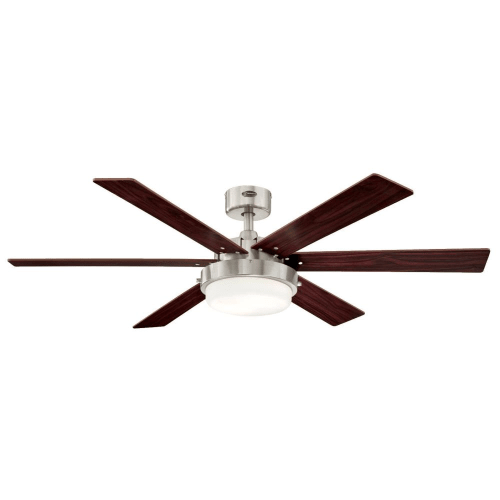 Westinghouse 7205100 Alloy II 2 Light 6 Blade LED Hanging Ceiling Fan With  Reversible Blades,