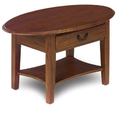 Leick Home Oval Coffee Table, Multiple Colors Black Oval Cocktail Table