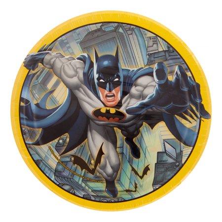 Batman Round Dinner Plates, Round, 9