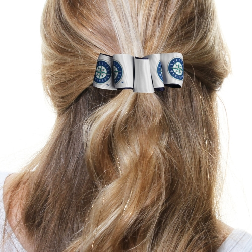 Seattle Mariners Women's Mary Loop Hair Bow - No Size