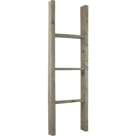 "15""W x 48""H x 3 1/2""D Vintage Farmhouse 3 Rung Ladder, Barnwood Decor Collection, Reclaimed Grey"