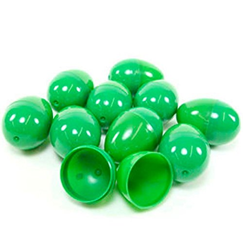 50 GREEN EMPTY EASTER EGGS VENDING, CRAFTS, ETC., GREEN EASTER EGGS By DISCOUNT PARTY AND NOVELTY