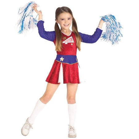 Child Girls Cheerleader Outfit Costume](Eagles Cheerleader Costume)