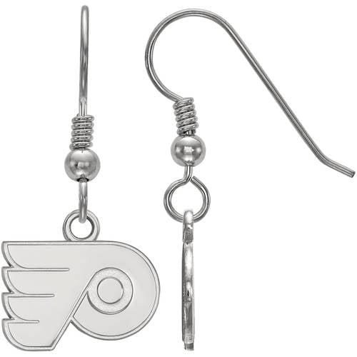 LogoArt NHL Philadelphia Flyers Sterling Silver Extra Small Dangle Earrings
