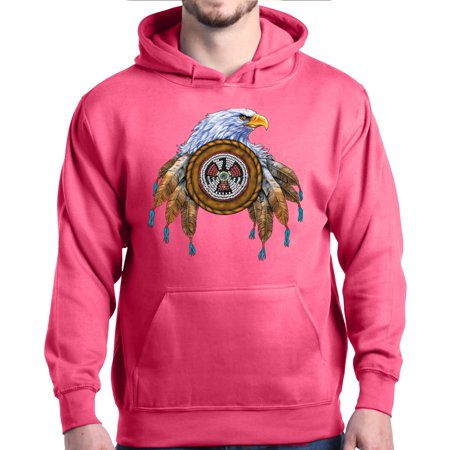 Shop4ever Mens Indian Feathered Bald Eagle Native American Hooded
