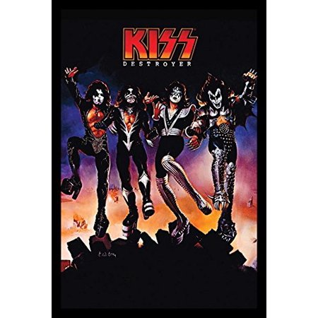 FRAMED Kiss Destroyer 36x24 Music Art Print Poster Hard Rock Heavy Metal 4th Studio Album 1976