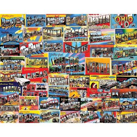 White Mountain Puzzles Postcards Collage 1000 Piece