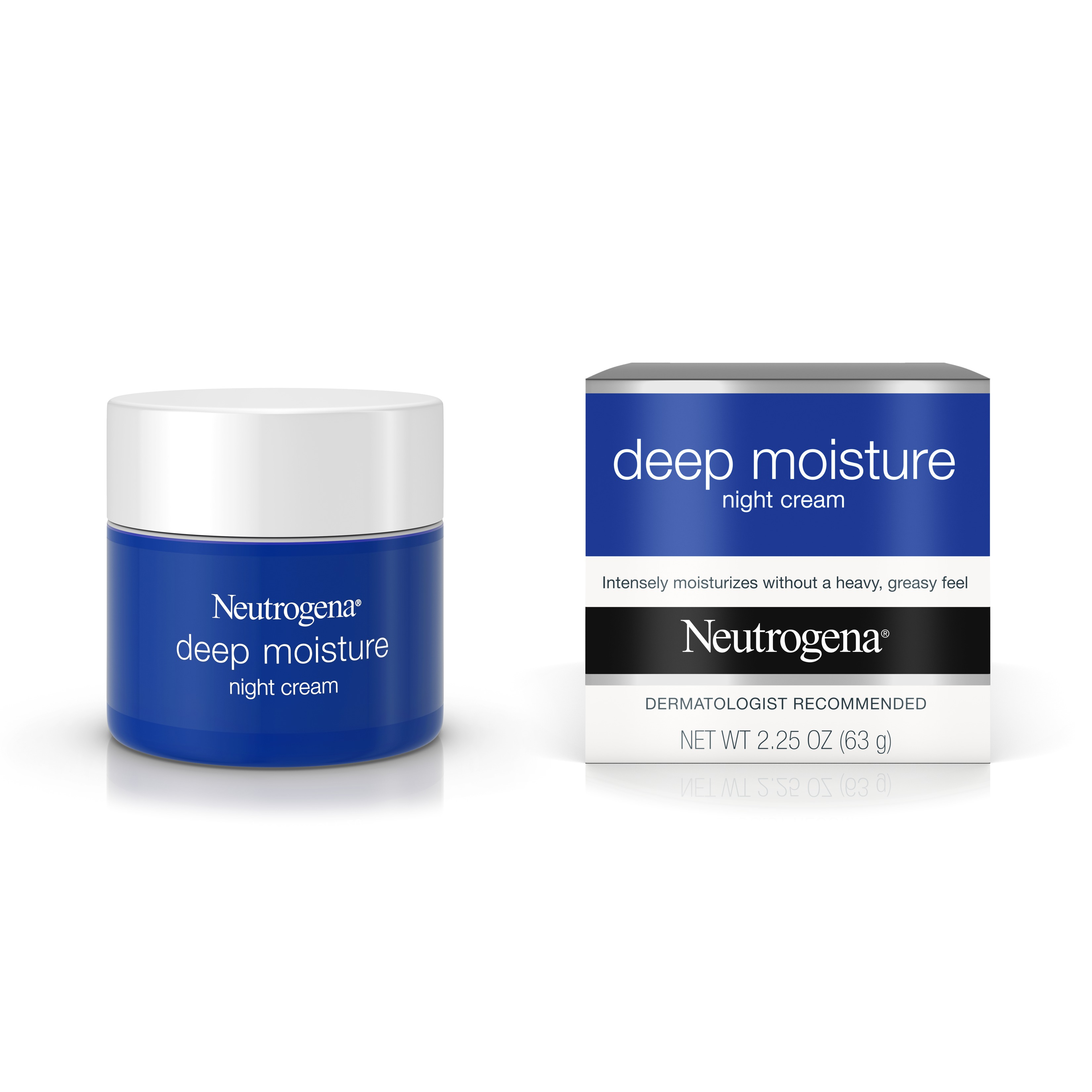 Neutrogena Deep Moisture Night Cream, Glycerin & Vitamin D3, 2.25 oz