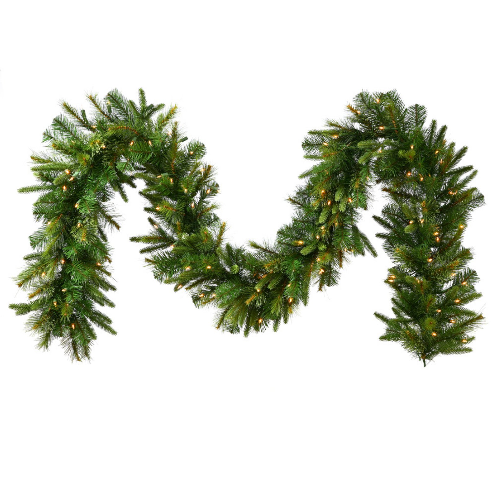 Vickerman 9' Cashmere Artificial Christmas Garland with 150 Multi-Colored LED Lights