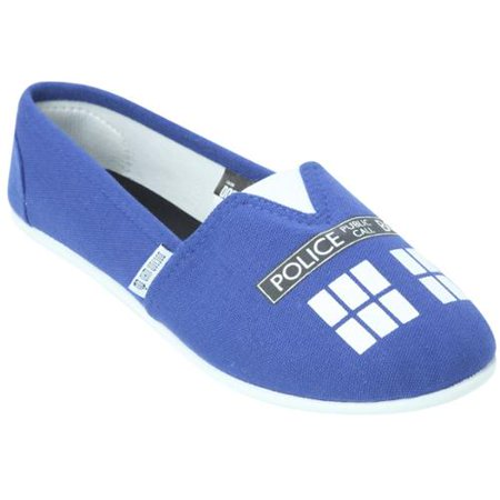 Doctor Who Women's Blue Tardis Slip On Shoes](Doctor Who Slippers)