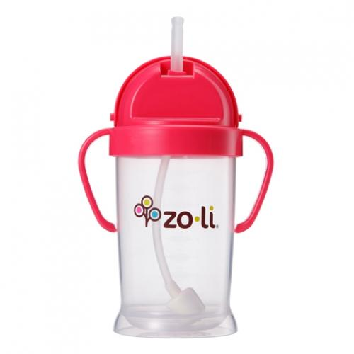 Zo-li BF12PPP091 BOT 9 oz XL-Straw Sippy Cup Pink by Zoli