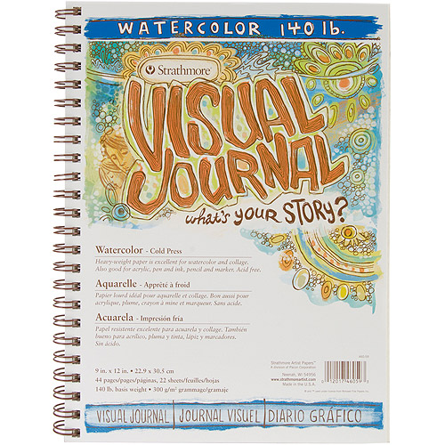 "Strathmore Visual Journal Spiral Bound 9""x12"", 140# Watercolor"