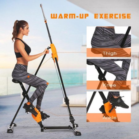 2 In 1 Folding Vertical Climber, Climbing Machine - Full Total Body Workout Fitness Folding Cardio Climber Exercise Machine BEDYDS