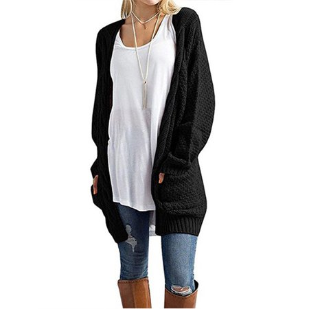 OUMY - OUMY Women Open Front Cardigans Long Sleeve Chunky Sweater Tops -  Walmart.com 81505f436