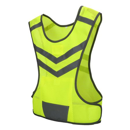 Dilwe High Visibility Adjustable Reflective Safety Vest for Outdoor Sports Cycling Running Hiking, Safety Vest, High Visibility Vest ()