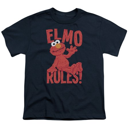 sesame street classic children's tv show elmo rules big boys youth t-shirt - Elmo T Shirt