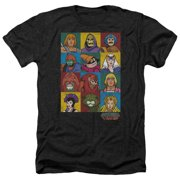 Masters Of The Universe Character Heads Mens Heather Shirt