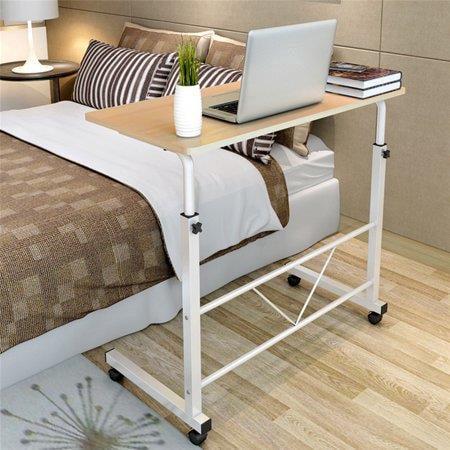 Ktaxon Laptop Desk Height Adjustable Rolling Notebook Sofa Bedside Sofa Table Stand Adjustable Height Multimedia Table