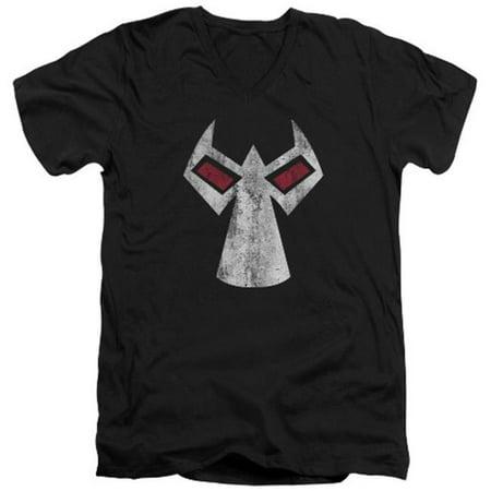 Batman-Bane Mask - Short Sleeve Adult 30-1 Tee - Black, 2X - Bane Mask Sale