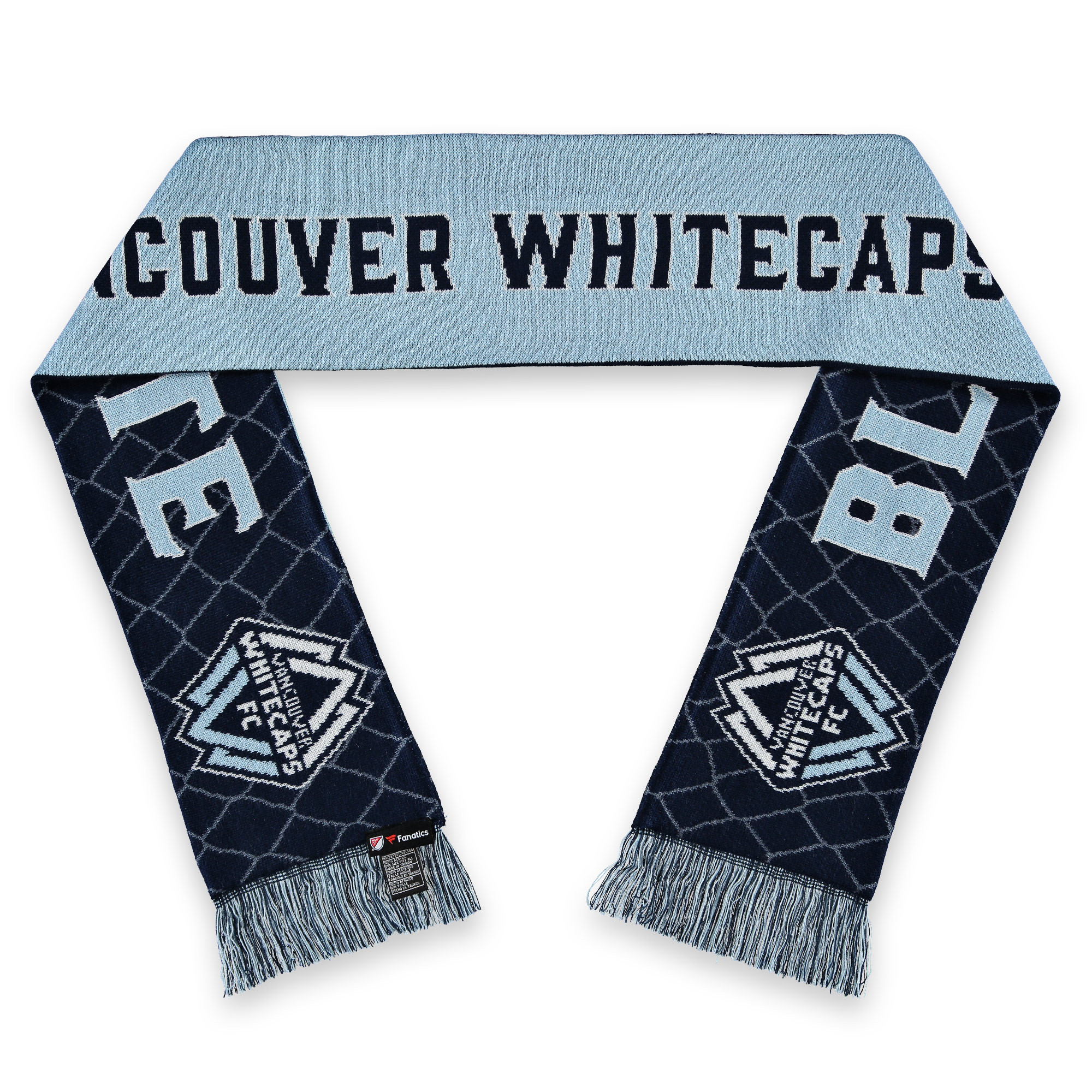 Vancouver Whitecaps FC Fanatics Branded Hometown Patch & Slogan Scarf - OSFA
