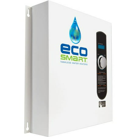 EcoSmart ECO 27 Electric Tankless Water Heater, 27 KW at 240 Volts, 112.5 Amps with Patented Self Modulating