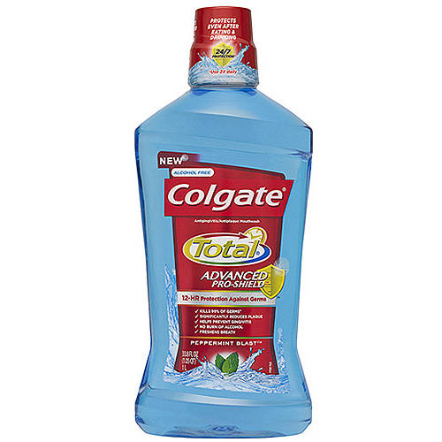 Colgate Total Advanced Pro-Shield Peppermint Blast Mouthwash, 33.8 fl oz