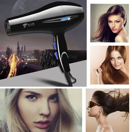 2019 Professional Hair Blow Dryer 2200W Black Heat Blower Dryer Beauty