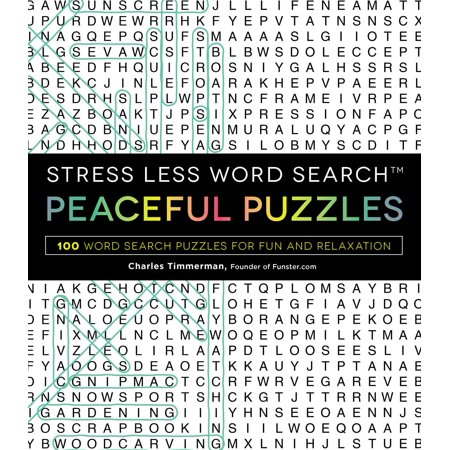 Stress Less Word Search - Peaceful Puzzles : 100 Word Search Puzzles for Fun and Relaxation](Fun Halloween Word Search)
