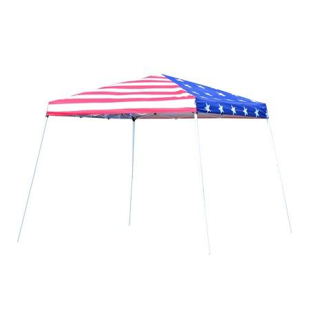 Outsunny 10 x 10 ft. Slant Leg Pop Up Shelter Canopy 10 Slant Leg Canopy