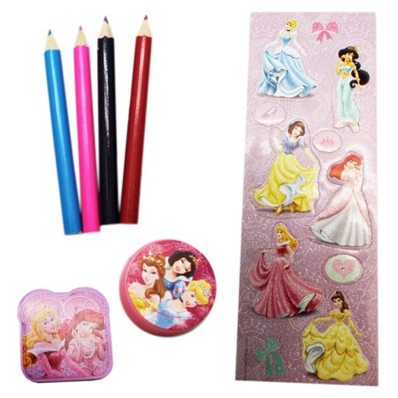 Disney Princess Kids Sketching/Doodle Kit (7 Pieces)