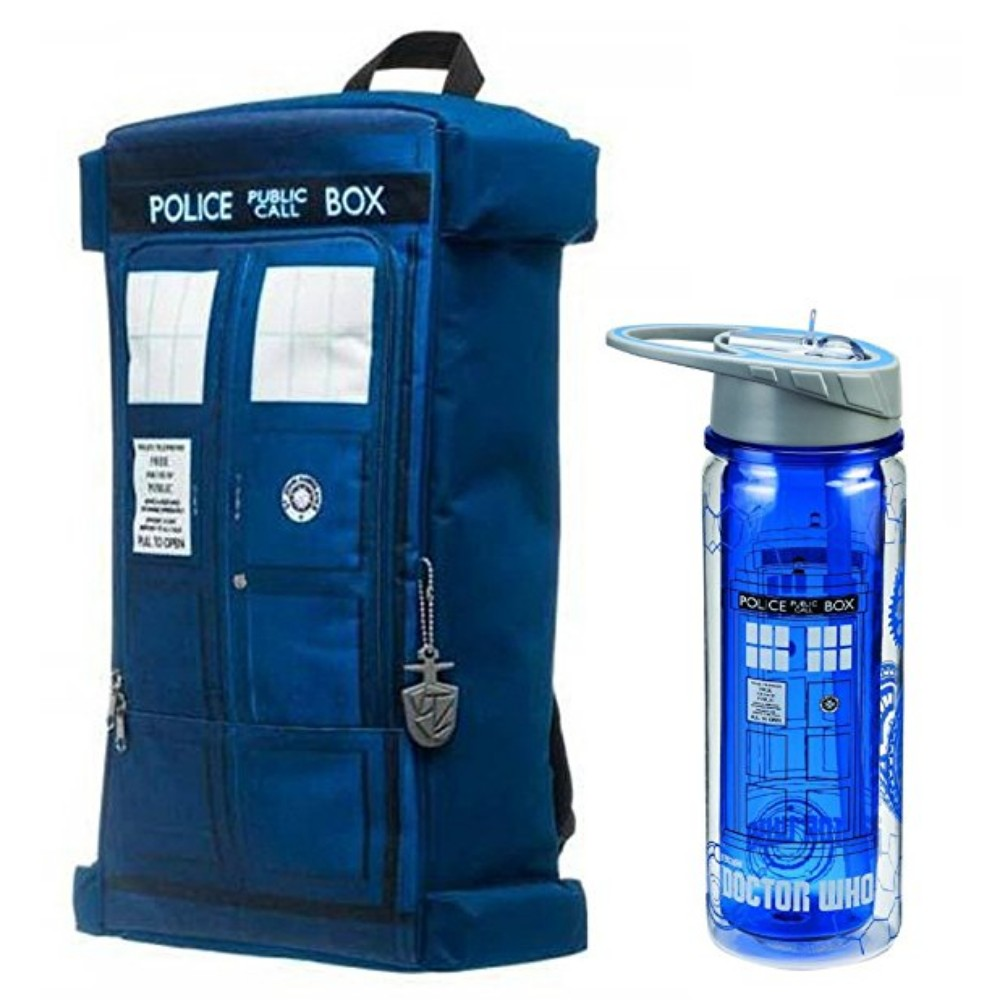 Bioworld Doctor Who Unique Shaped Tardis Backpack & Trita...