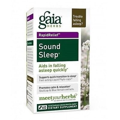 Gaia Herbs Sound Sleep Vegetarian Liquid Phyto-Capsules, 60 Ct