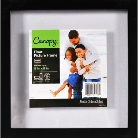 better homes and gardens 8x8 black gallery float frame