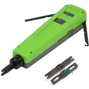 CAT5E/CAT6 RJ Network Wire Cable Impact Punch Down Tool with 110/66 Blades