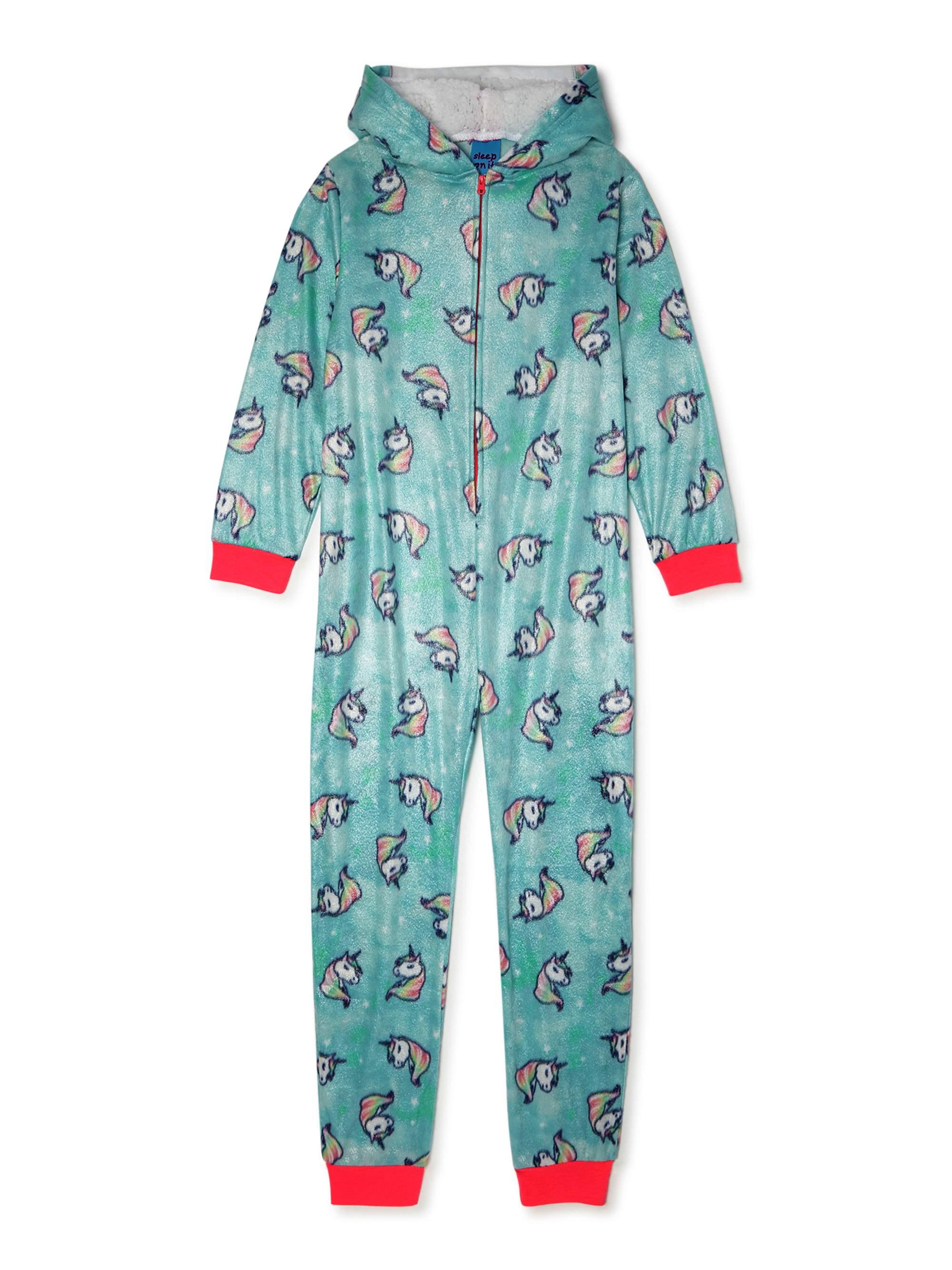 dELiA*s Girls Pink Owl Hoo Needs Sleep Fleece Hooded Pajamas