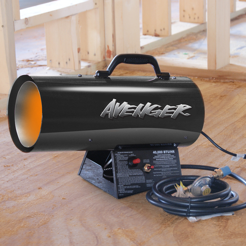 Avenger Portable Forced Air Propane Heater 40,000 BTU, Model# FBDFA40 by Propane Heaters