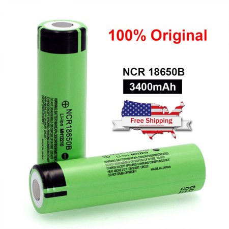For Panasonic NCR18650B-3400 3400mAh 3.7V Unprotected High-Drain 4.87A Lithium Ion Flat Top (E815 Lithium Ion Battery)