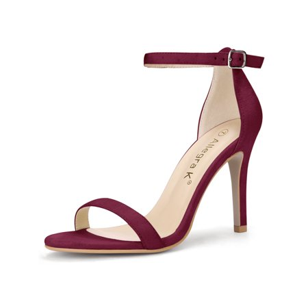Unique Bargains Women's Stiletto High Heel Open Toe Ankle Strap Sandals - Highest Stiletto Heels